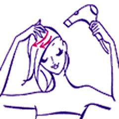髪の乾かし方-3